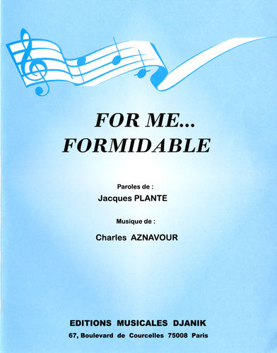 Charles AZNAVOUR - For me...formidable